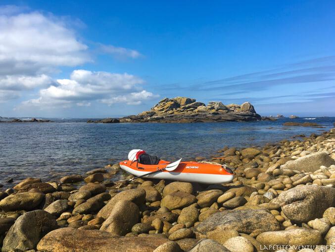 kayak dans la baie de l'aber wrach