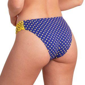 Braga de bikini de lunares con laterales drapeados