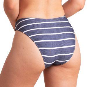 Braga bikini basica rayas con botones decorativos