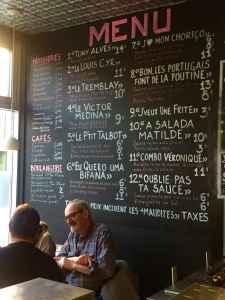 Le menu de Ma Poule Mouillée