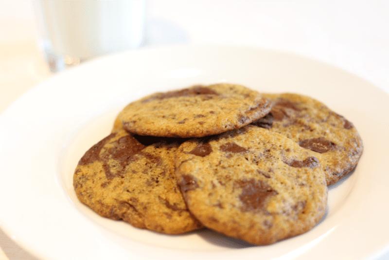 Biscuits aux brisures de chocolat noir