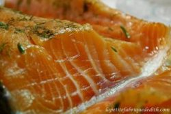 Filet de saumon gravlax