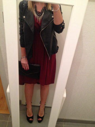 Look de fêtes robe asymétrique (Look nouvel an 2014) - La Petite Frenchie