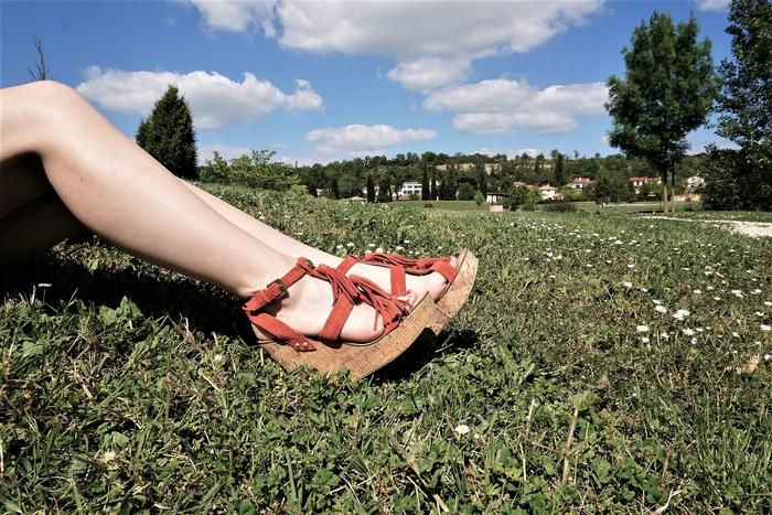 Look bandana & sandales compensées - La Petite Frenchie
