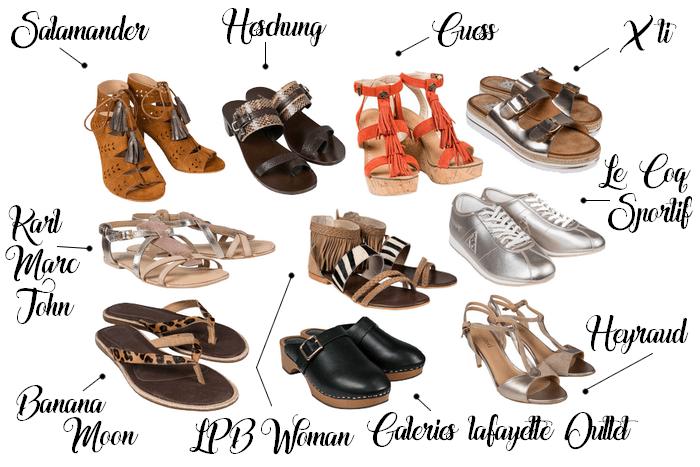 Sélection shopping 10 chaussures été Nailloux Outlet Village - La Petite Frenchie