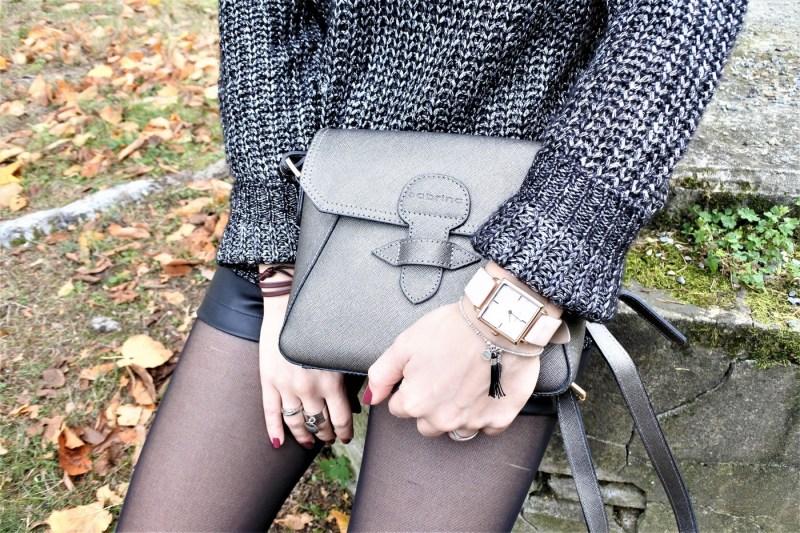 Look gris métallisé - La Petite Frenchie