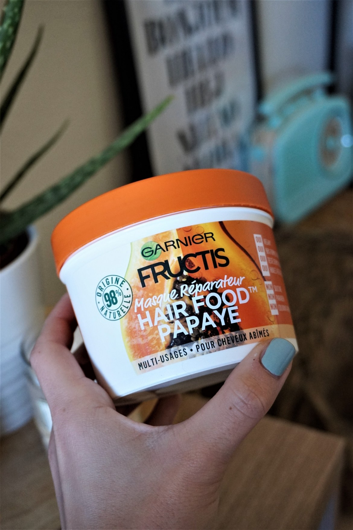 Revue Masque Hair Food Fructis Granier - La Petite Frenchie