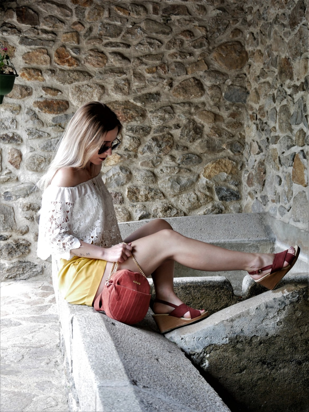 Look short jaune - La Petite Frenchie