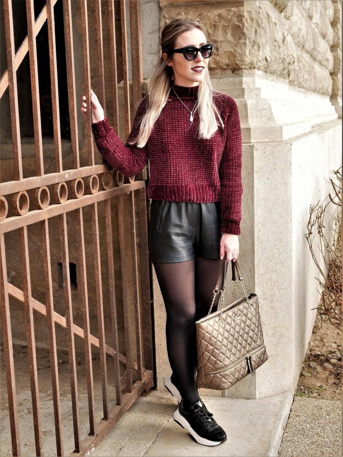 Look pull chenille & baskets à semelle épaisse - La Petite Frenchie