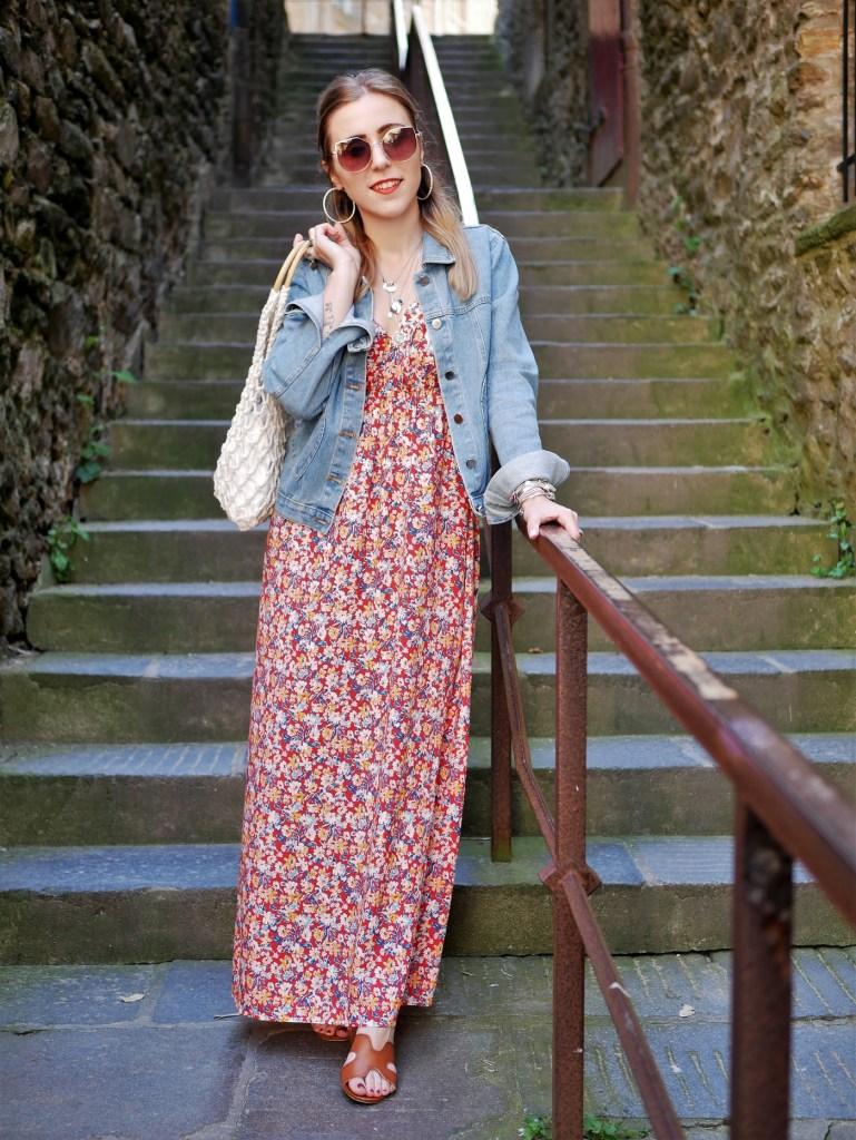 Look maxi robe à Saint-Malo - La Petite Frenchie