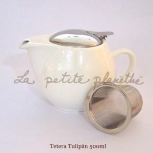 Tetera Tulipán Blanco 500ml