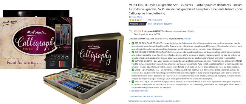kit de calligraphie recommandation la petite rédac