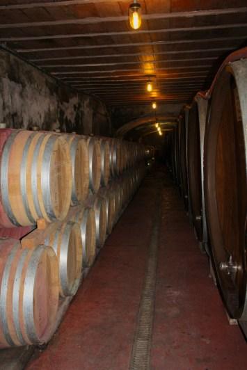 La cave, où vieillissent lentement les vins.