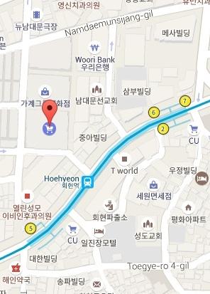 Namdaemun Market map