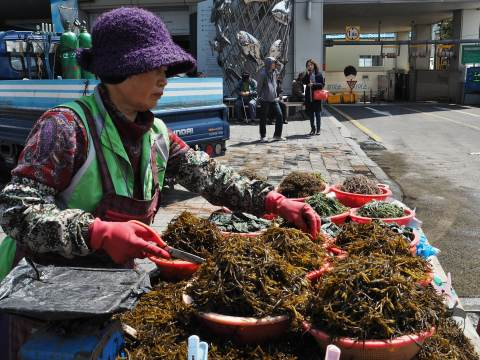 South Korea's largest seafood market