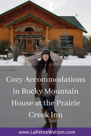 Cozy Accommodation in Rocky Mountain House at the Prairie Creek Inn close to Abraham Lake (frozen Bubble Lake) on La Petite Watson