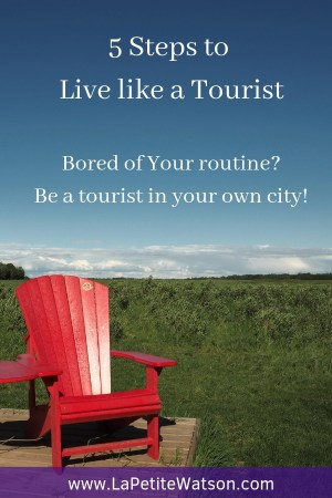 Want some fun activities to do? Check out these 5 steps to rediscover your city or town! % steps to live like a tourist on La Petite Watson (with bonus email challenge)