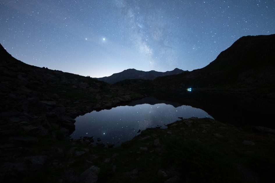 voie lactée Andorre