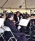John Sawoski playing keyboards with Capistrano Valley Symphony Orchestra.