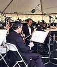 John Sawoski playing keyboards with Capistrano Valley Symphony Orchestra.