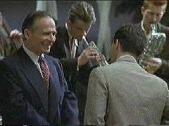 John Sawoski as Gerry Mulligan, with Jonathan Dane as Chet Baker, in the movie LA Confidential