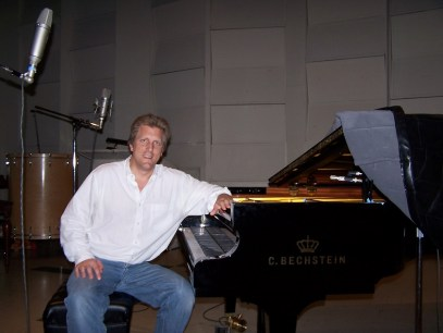 John Sawoski at East West Studios, working on Quantum Leap Pianos.