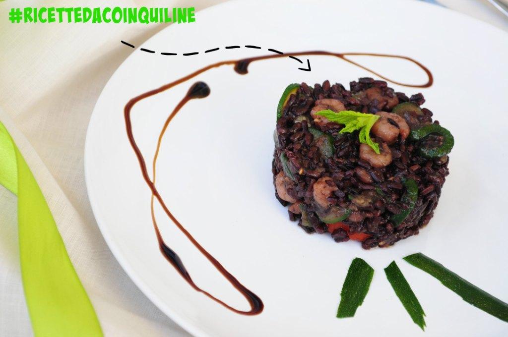 I menù fuori casa: insalata di riso con gamberetti e zucchine