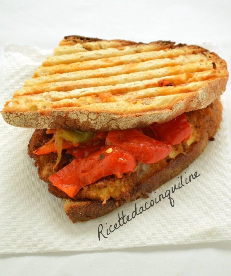 I menù fuori casa: panino con cotoletta e peperoni