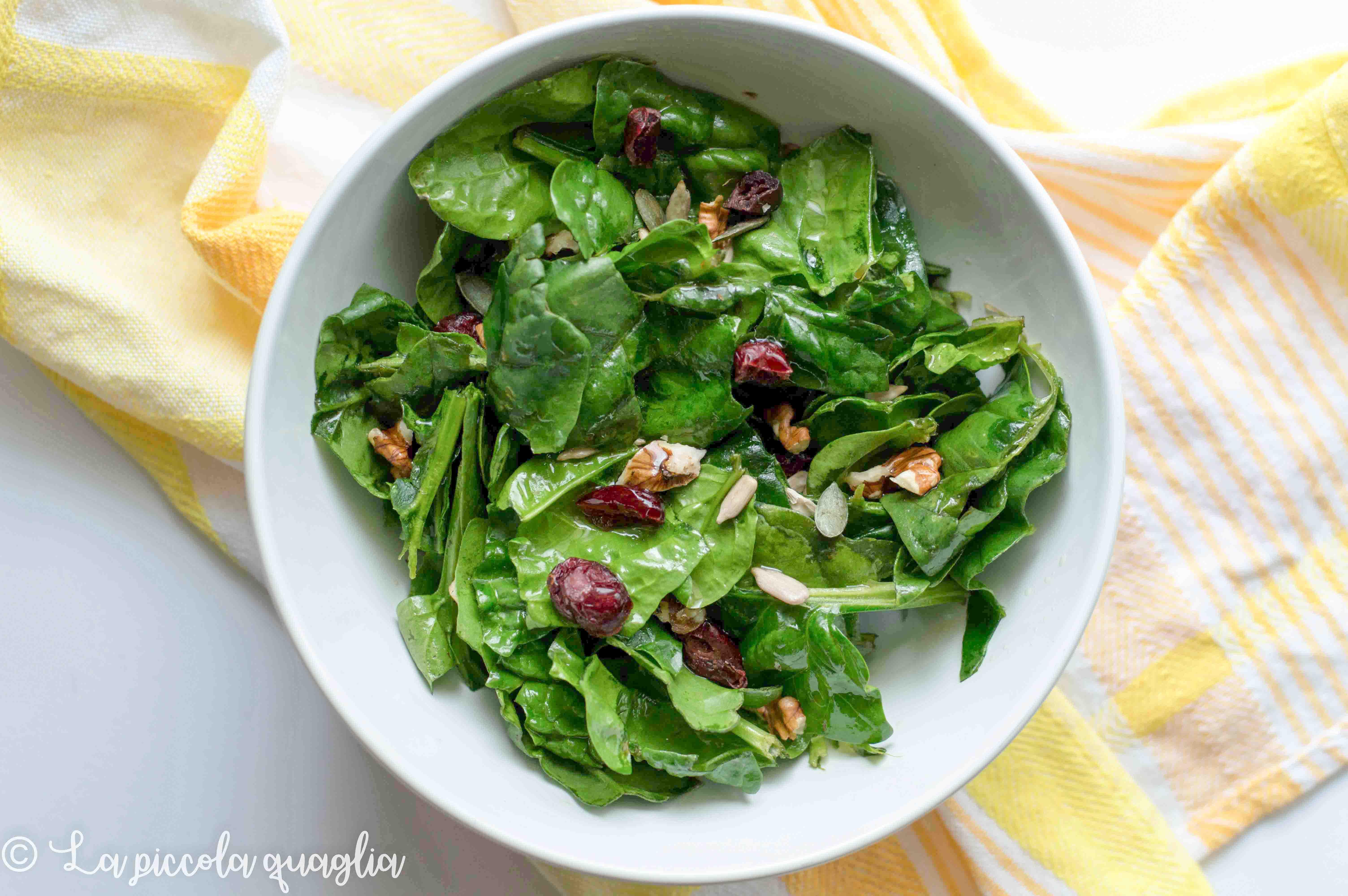 I sani venerdì: insalata invernale di spinaci