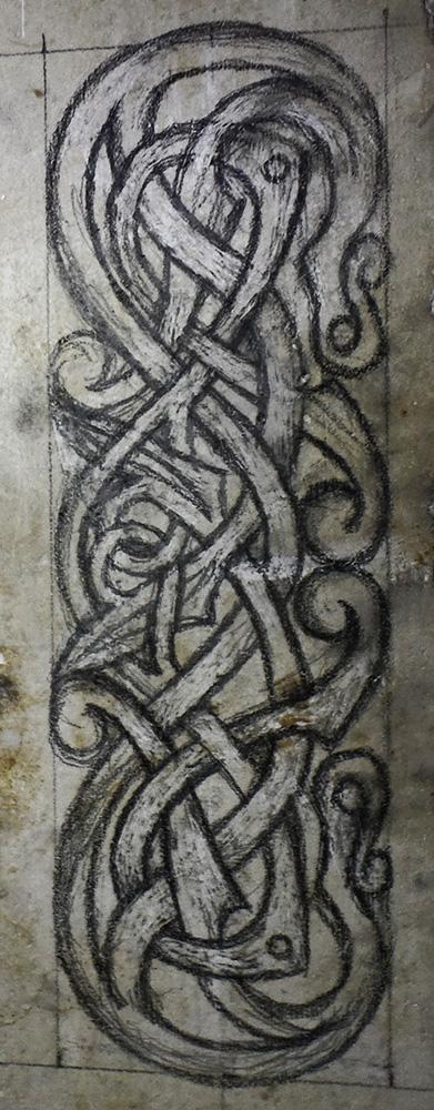 Tracé inspiré d'un motif norvégien du XIème siècle