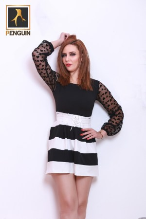 Code_[Maro707]_Short_casual_black_white_dress