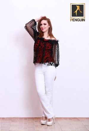 Code_[Mena125]_Tel_blouse_Charleston_trousers