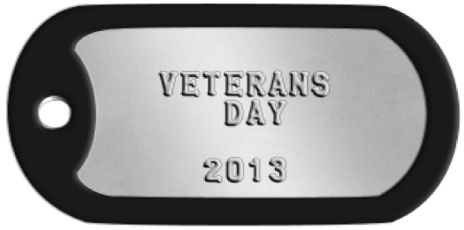 Veterans Day 2013 on a Dog Tag