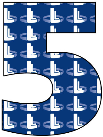Number 5 with Lapin Law Offices logo within