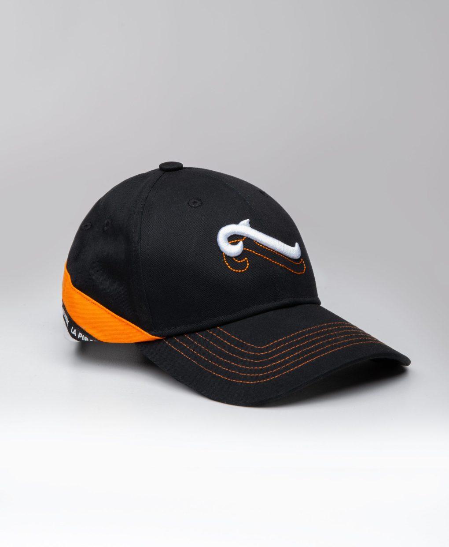 casquette sigle double noir orange