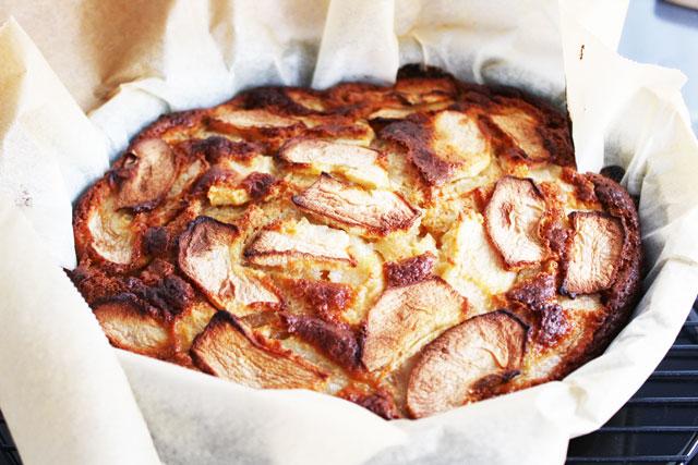 una tarta de manzana muy buena