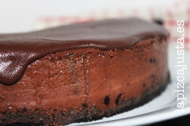 el cheesecake de chocolate es muy sencillo de preparar