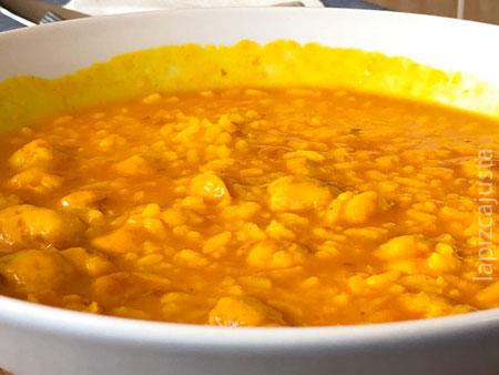 arroz de longanizas meloso