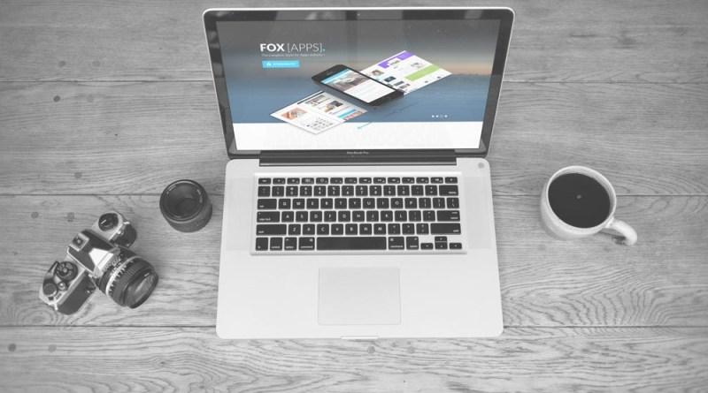 Black and White MacBook Scene Mockup