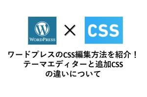 ワードプレスのテーマの追加CSSの使い方、編集、カスタマイズする方法を紹介!追加CSS、テーマエディターの違いは?