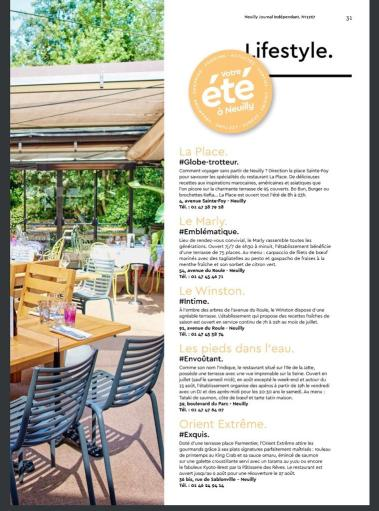 Article, presse, La Place, Neuilly