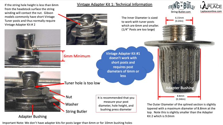 Vintage Adapter Kit #1 Technical Info