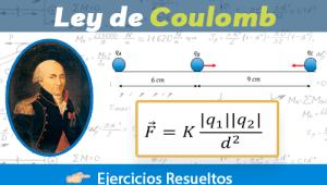 Ley de Coulomb – Ejercicios Resueltos Paso a Paso