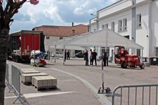 Les Sapeurs-pompiers, place des Francs.