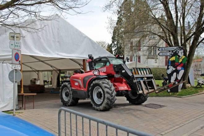 L'association CSV Rugby et les amis du Rugby, parking de Badenwiller.