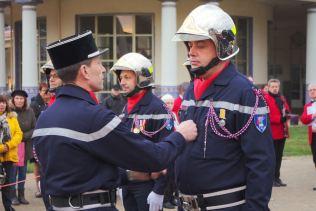 Promu au grade d'adjudant, Thierry Prévot (CIS Remoncourt).