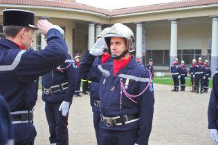 Promu au grade de sergent, Franck Lemarquis (CIS Remoncourt).