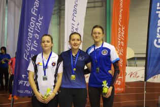 Podium juniores filles