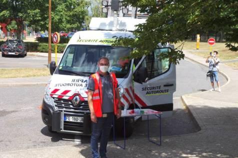 Opération de sensibilisation à la sécurité routière.