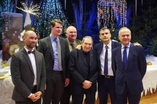 Robert Hossein lors des voeux du maire Franck Perry en janvier 2020.